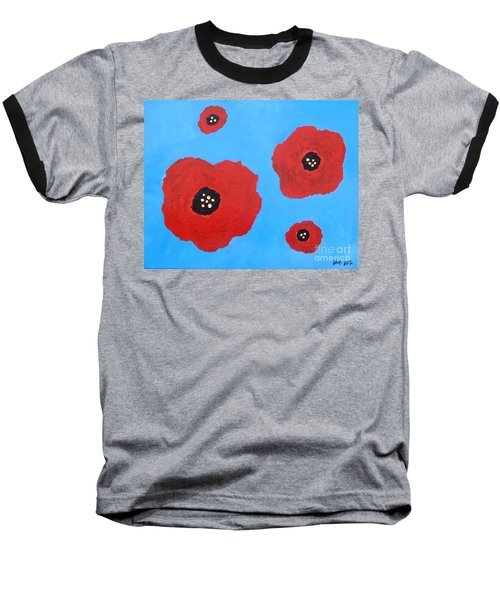 Baseball T-Shirt featuring the painting Floating Flowers by Alys Caviness-Gober