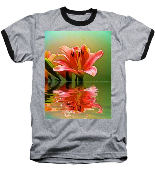 Flooded Lily Baseball T-Shirt by Bill Barber