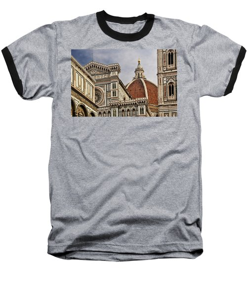 Baseball T-Shirt featuring the photograph Florence Duomo by Steven Sparks