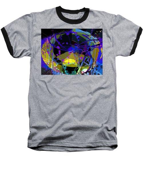 Baseball T-Shirt featuring the digital art Flower Abstract by Anne Mott