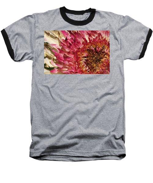 Flower Art Baseball T-Shirt