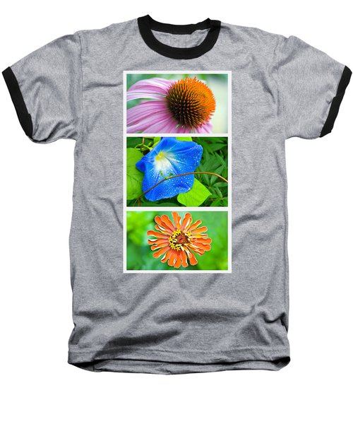 Flower Collage Part Two Baseball T-Shirt