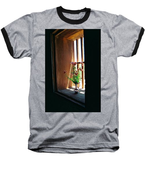 Flower In Window Baseball T-Shirt