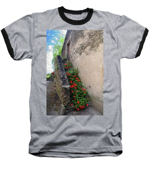 Baseball T-Shirt featuring the photograph Flower Stairway by Dave Mills