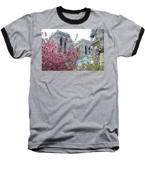 Baseball T-Shirt featuring the photograph Flowering Notre Dame by Jennifer Ancker