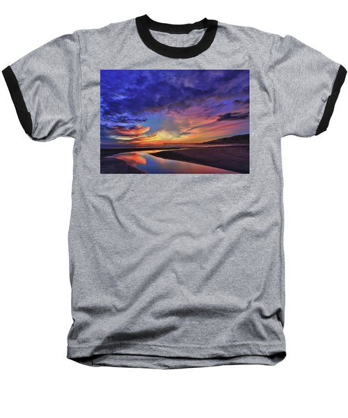 Flowing Out To The Ocean Baseball T-Shirt