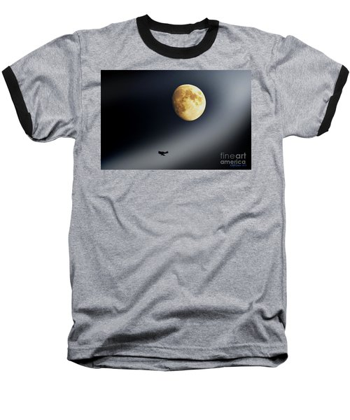 Fly Me To The Moon Baseball T-Shirt by Kevin J McGraw