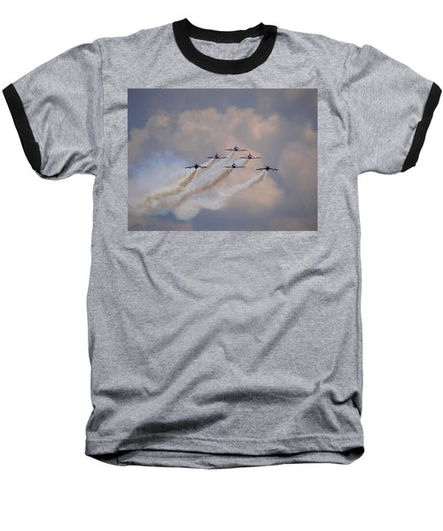 Baseball T-Shirt featuring the photograph Flying In Formation by Julia Wilcox