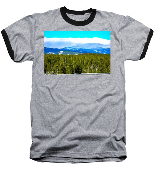 Baseball T-Shirt featuring the photograph Fog In The Rockies by Shannon Harrington
