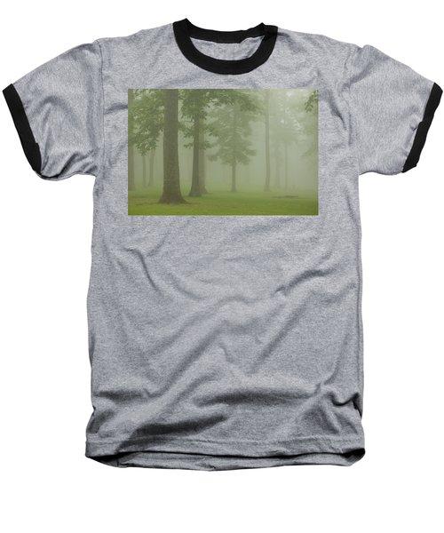Foggy Forest Baseball T-Shirt