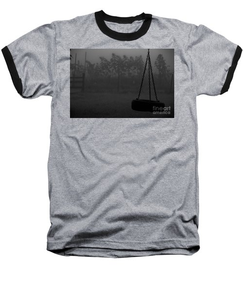 Baseball T-Shirt featuring the photograph Foggy Playground by Cheryl Baxter