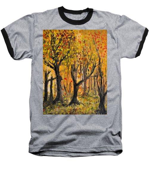 Baseball T-Shirt featuring the painting Foliage by Evelina Popilian