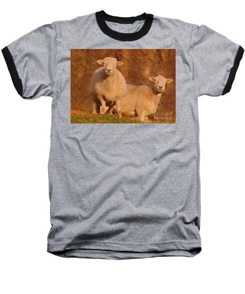 Baseball T-Shirt featuring the mixed media Follow by Lydia Holly