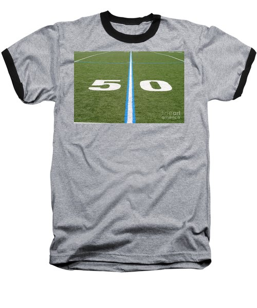 Baseball T-Shirt featuring the photograph Football Field Fifty by Henrik Lehnerer