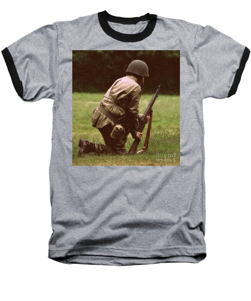 Baseball T-Shirt featuring the photograph For Freedom by Lydia Holly