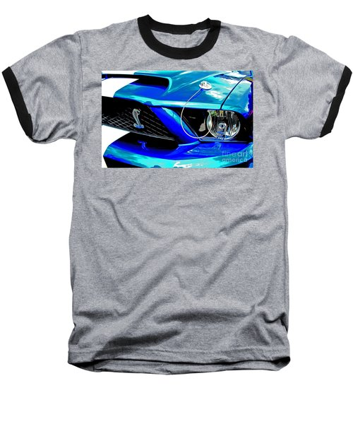 Baseball T-Shirt featuring the digital art Ford Mustang Cobra by Tony Cooper