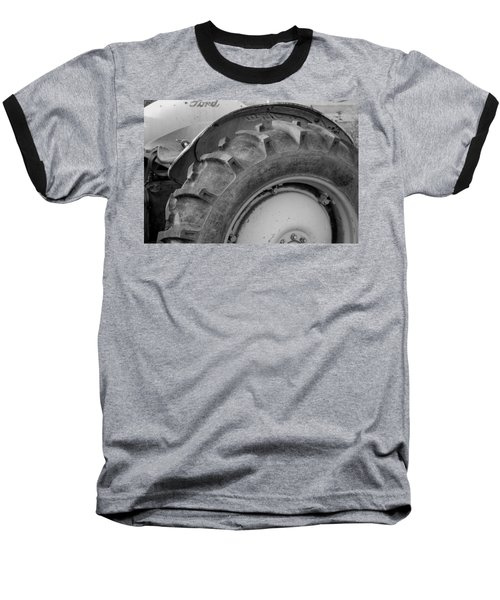 Baseball T-Shirt featuring the photograph Ford Tractor In Black And White by Jennifer Ancker