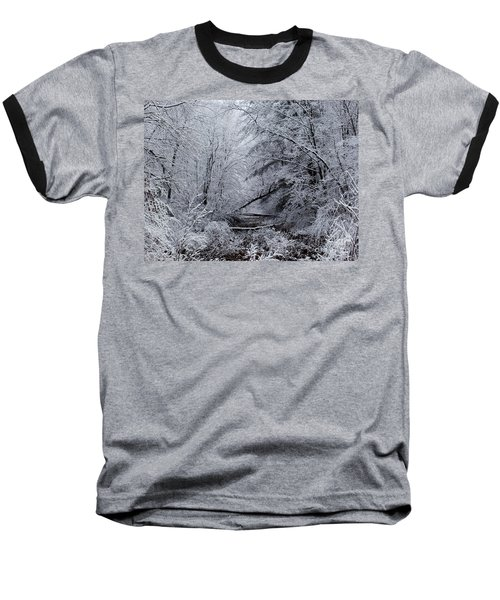 Forest Lace Baseball T-Shirt by Christian Mattison
