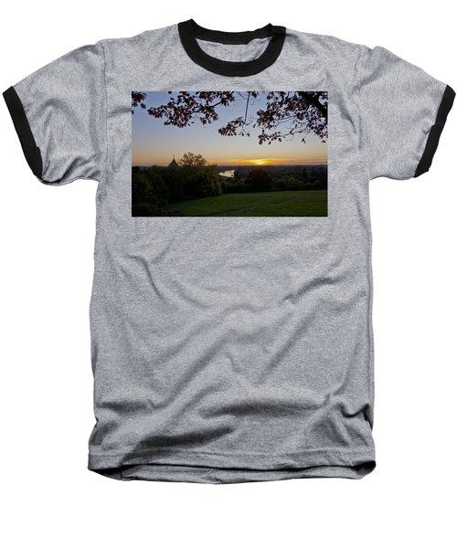 Baseball T-Shirt featuring the photograph Framed Sunset by Maj Seda