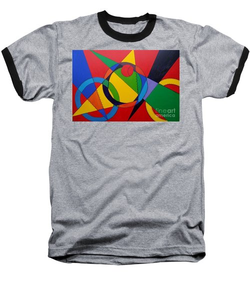 Baseball T-Shirt featuring the painting Frankenball by Julie Brugh Riffey