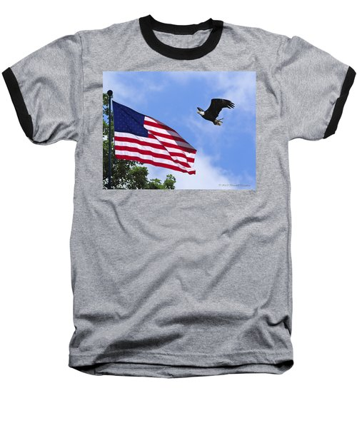 Baseball T-Shirt featuring the photograph Freedom Feeds The Family by Randall Branham