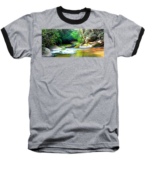 French Broad River Filtered Baseball T-Shirt