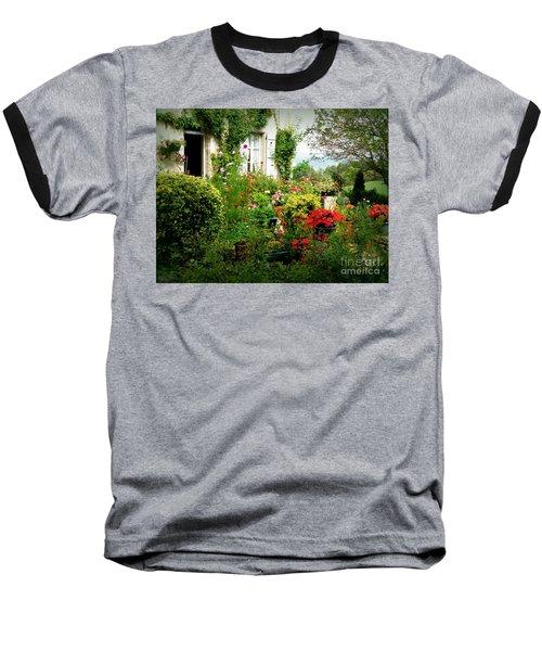 French Cottage Garden Baseball T-Shirt