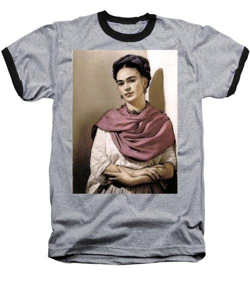 Frida Interpreted 2 Baseball T-Shirt by Lenore Senior