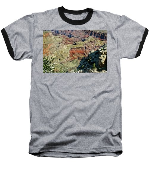 Baseball T-Shirt featuring the painting From Yaki Point 6 Grand Canyon by Bob and Nadine Johnston