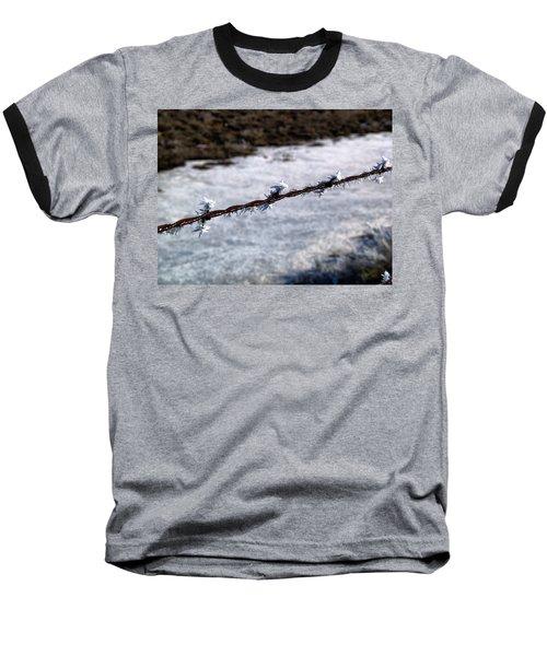 Frosty Barb Wire Baseball T-Shirt
