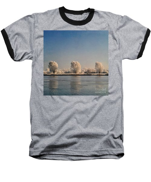 Frozen Lake Baseball T-Shirt by Lyn Randle