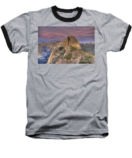 Full Moon Rise Behind Half Dome Baseball T-Shirt