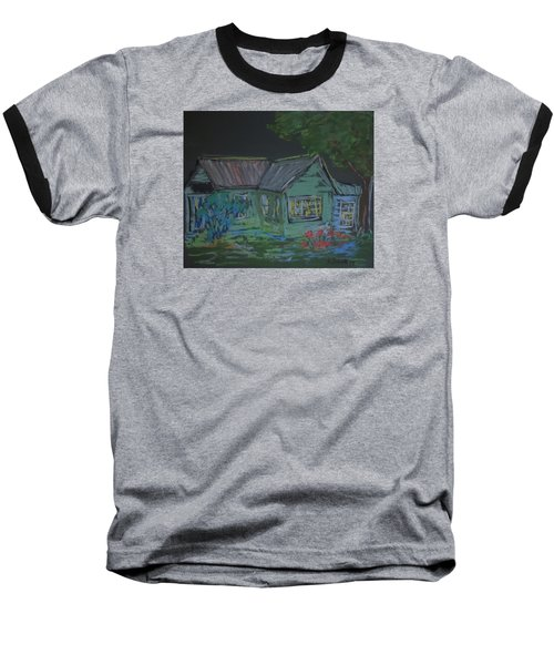 Baseball T-Shirt featuring the painting Gabby's House by Francine Frank