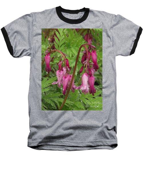 Garden Rain Drops Baseball T-Shirt