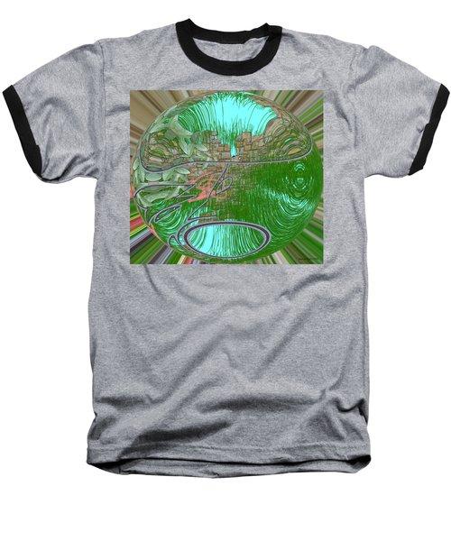 Baseball T-Shirt featuring the digital art Garden Wall by George Pedro