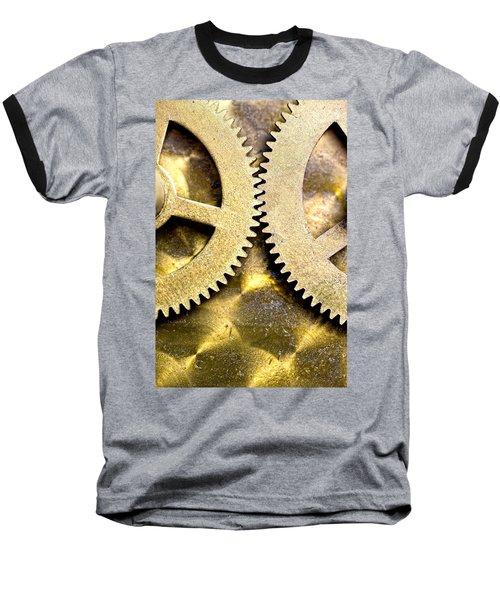 Baseball T-Shirt featuring the photograph Gears From Inside A Wind-up Clock by John Short