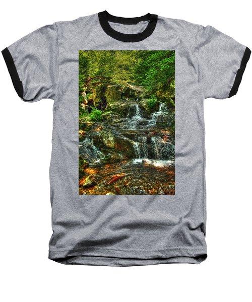 Gentle Falls Baseball T-Shirt by Dan Stone