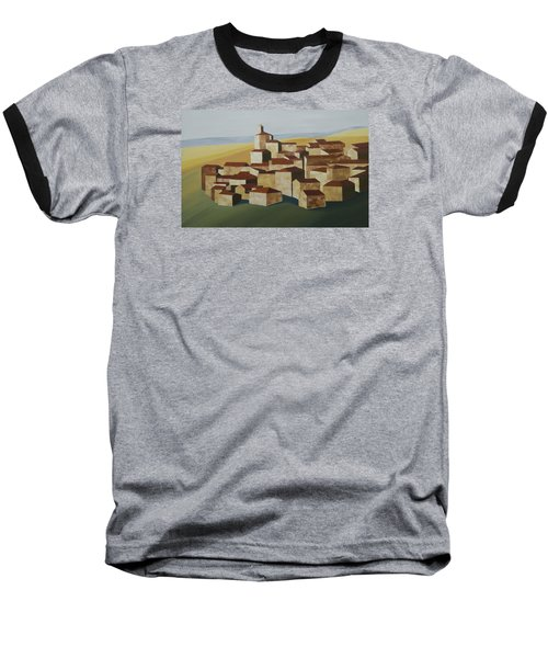 Cubist Village Spain Baseball T-Shirt