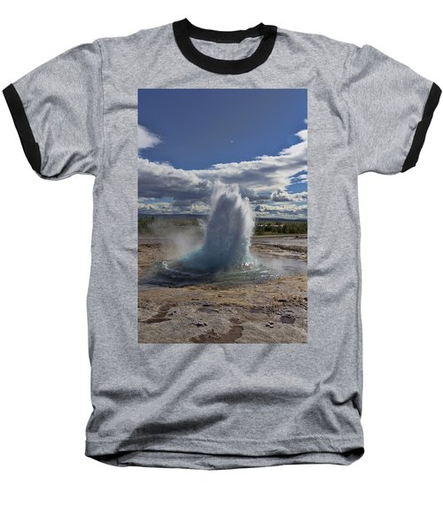 Baseball T-Shirt featuring the photograph Geysir 2 by David Gleeson