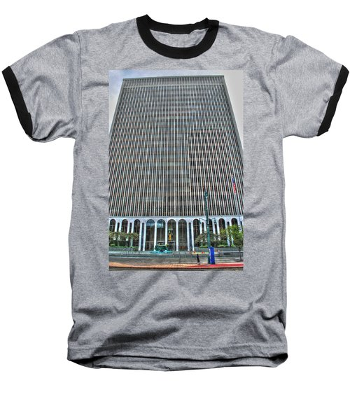 Baseball T-Shirt featuring the photograph Giant Bank Of M And T by Michael Frank Jr