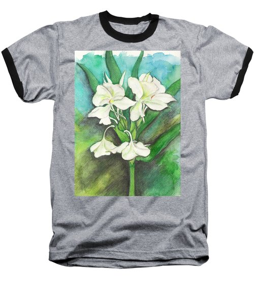 Baseball T-Shirt featuring the painting Ginger Lilies by Carla Parris
