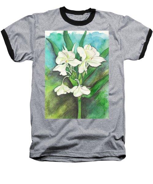 Ginger Lilies Baseball T-Shirt by Carla Parris