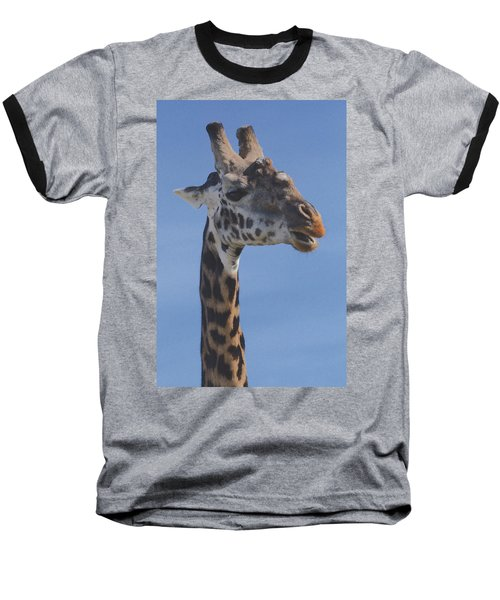 Giraffe Headshot Baseball T-Shirt