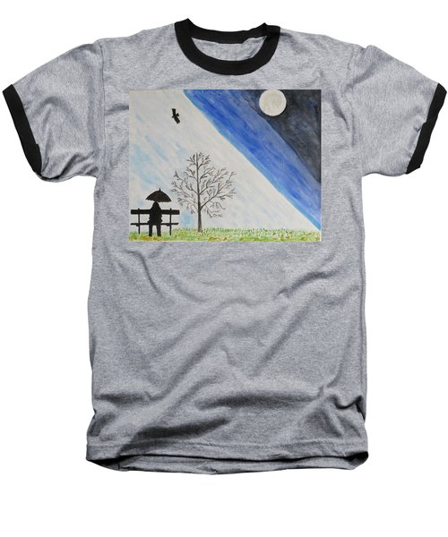Baseball T-Shirt featuring the painting Girl With A Umbrella by Sonali Gangane