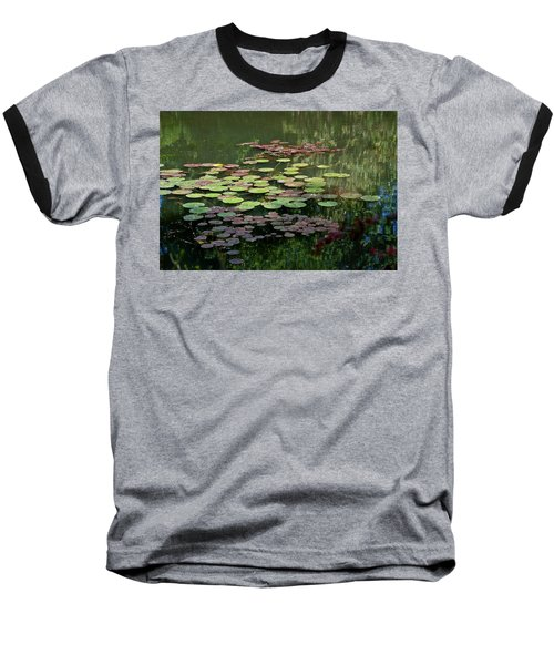 Giverny Lily Pads Baseball T-Shirt by Eric Tressler