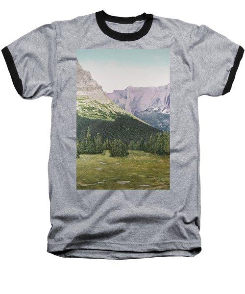 Glacier National Park Montana Baseball T-Shirt