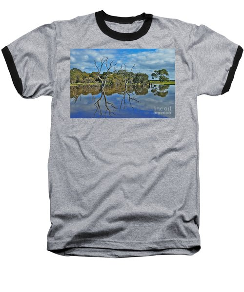 Baseball T-Shirt featuring the photograph Glass Lake by Stephen Mitchell