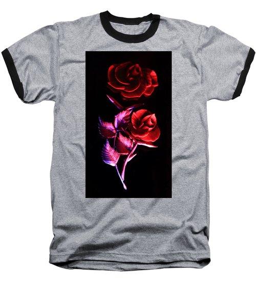 Glowing Glass Rose Baseball T-Shirt