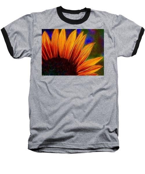 Glowing Sunflower Baseball T-Shirt