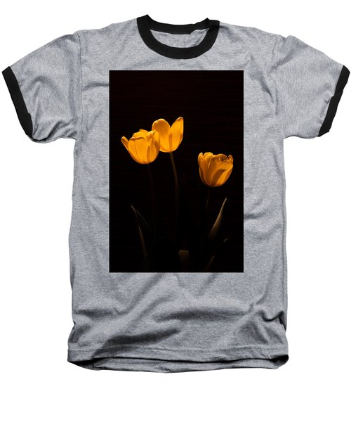 Baseball T-Shirt featuring the photograph Glowing Tulips by Ed Gleichman
